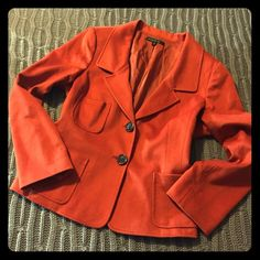 Burnt orange wool/angora blazer. Lafayette 148 New York wool/angora blend soft blazer with 2 buttons in a burnt orange color. Excellent condition, no signs of wear. Dry clean only. Lafayette 148 New York Blazers are pricy - much cheaper this way!  Lafayette 148 New York Jackets & Coats Blazers