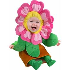 Our Baby Flower Pot Costume is the most precious baby girl's flower outfit for any young infant. - Green top with sewn in leaves on arms - Attached flower pot skirt with padded foam - Separate flower Cute Costumes, Family Halloween Costumes, Baby Costumes, Halloween Kids, Costume Ideas, Costumes 2015, Halloween 2017, Flower Pot Costume, Daisy Costume