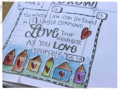 Why, What & Documented Faith Week 19 Scripture Art, Bible Art, Bible Scriptures, Sermons 4 Kids, I Need Jesus, Sermon Notes, Love Your Neighbour, Illustrated Faith, Hand Lettering