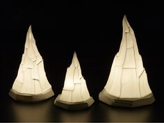 porcelain lamps by Margaret O'Rorke - photo by Peter Lee