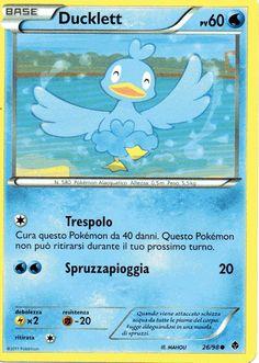 Carta Pokemon Ducklett-nero e bianco-nuove forze 26/98 comune nuova