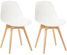 Nordischer Chic für das Esszimmer: Die Stühle MAXIME von Actona folgen der klaren Designlinie, die typisch für den Skandi-Style ist und nebenbei die Küche förmlich aufblühen lässt. Aus Kunststoff und Holz gefertigt, sind die beiden Stühle besonders stabil und pflegeleicht. MAXIME ist ein tolles Set für den Alltag, verschönert aber auch die Küchenparty mit Freunden.