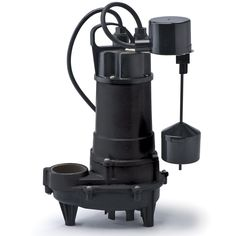 REF50V ECO-FLO Products 1/2 HP Submersible Cast Iron Effluent Pump - Vertical Switch