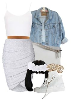 """"""":)"""" by lovebrii-xo ❤ liked on Polyvore featuring Sabrina Zeng, Witchery, Topshop, Charlotte Russe and Chanel"""