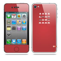 Invader from space Red iPhone skin by TAJTr