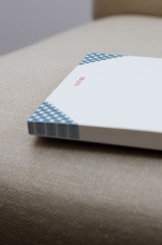 Notepad. perfect for the doodler. Gingham notepad. Blue. Great gift idea. Order Online
