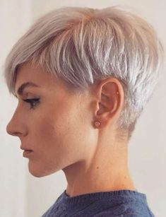 15 best short hairstyles you'll love The Effective Pictures We Offer You About short grey hair with Latest Short Hairstyles, Pixie Hairstyles, Easy Hairstyles, Medium Hairstyles, Short Hair Cuts For Women, Long Hair Cuts, Haircut For Thick Hair, Fade Haircut, Cool Haircuts