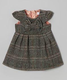 Tweed Bow Wool Toddler Dress