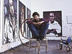 Ben Quilty in his studio