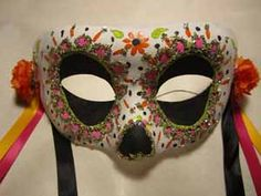 day of the dead half mask - Google Search