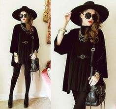 58 ideas skirt black outfit winter hats for 2019 Witch Fashion, Dark Fashion, Gothic Fashion, Autumn Fashion, Emo Fashion, Minimalist Fashion, Outfits With Hats, Fall Outfits, Cute Outfits