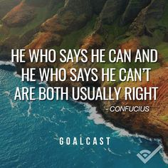 both usually right. Confucius