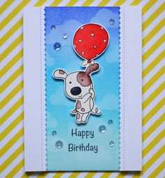 Hey there! Here is a new birthday card I made using a stamp set that I really love from Penny Black. As I wanted the little pup...