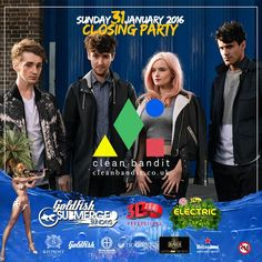 Proud to announce Clean Bandit (UK) will be performing at the FINAL #SubmergedSunday Season Closing Party on 31 Jan 2016. www.shimmybeachclub.co.za/tickets Closing Party, Clean Bandit, Big Party, Event Calendar, Beach Club, Goldfish, Books Online, Sunday, News