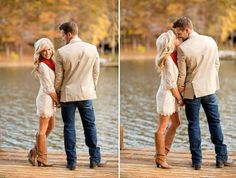 Plus Size Engagement Photo Poses | couples pose
