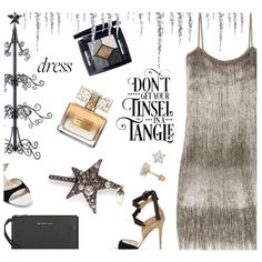 Perfect Party Dress by annbaker on Polyvore featuring moda, Rachel Zoe, René Caovilla, MICHAEL Michael Kors, Alexander McQueen, Christian Dior, Givenchy, Improvements and partydress