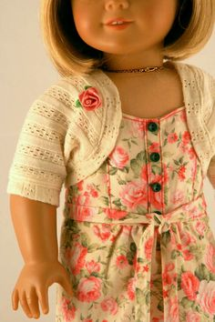 Close-up of the shrug sold with the Floral Garden Dress.