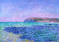 Shadows on the Sea The Cliffs at Pourville - Claude Monet (1882)
