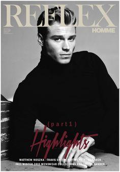Wilhelmina model Matthew Noszka for Reflex Homme April 2015