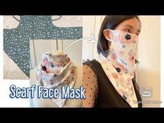 Scarf Face Mask/ DIY Face Mask at Home/ Schal Gesichtsmaske selber nähen/ coudre un masque Easy Face Masks, Diy Face Mask, Sewing Hacks, Sewing Projects, Diy Masque, Diy Scarf, Neck Scarves, Fashion Face Mask, Tapas