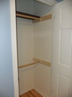 DIY:  double the hanging space in your closet!