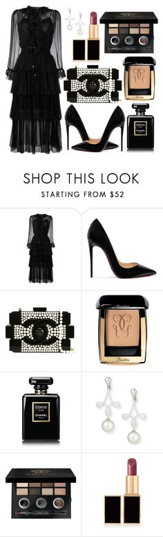 """Untitled #451"" by ngkhhuynstyle ❤ liked on Polyvore featuring Zimmermann, Christian Louboutin, Chanel, Guerlain, Belpearl, Bobbi Brown Cosmetics and Tom Ford"