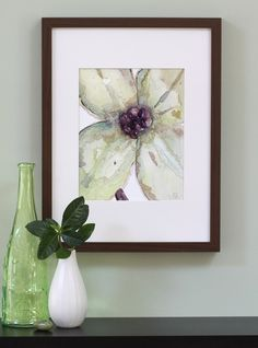 Watercolor There was a Flower by Stephanie Ryan - $22. Etsy  -  ***Same flower shown in a frame***