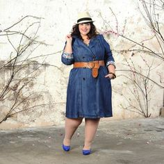 denim trench  - really cook look