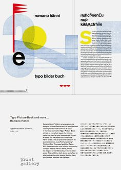 Poster for Romano Hänni. Typo Picture Book and more … , print gallery Tokyo, 2013; Poster design and printing by Romano Hänni, Büro für Gestaltung Basel; second poster designed by Hiro Abe/print gallery Tokyo