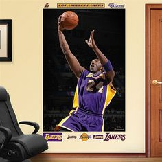 Fathead Los Angeles Lakers Kobe Bryant Mural Wall Graphic- #ad