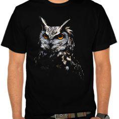 Owl tee - animal t-shirt - artsivaris