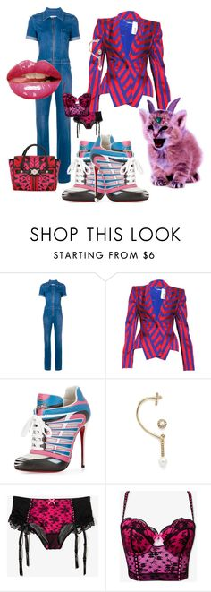 """""""In Love"""" by mariafrancesca-lo-polito ❤ liked on Polyvore featuring STELLA McCARTNEY, Alexander McQueen, Christian Louboutin, Oscar de la Renta, Forever 21 and Versace"""
