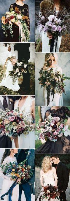 stunning moody wedding bouquets ideas #weddingideas