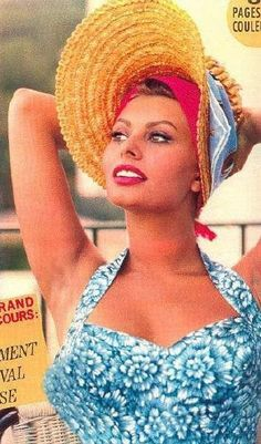 Sofia Loren she is so gorgeous, then and now.
