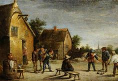 David Teniers the Younger (1610-1690) Game of Bowls