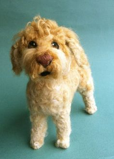 Needle Felted Fiber Sculpture of Your by DogArtPortraits on Etsy, $425.00