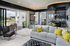 Model Home Interior Design - Ravenna 1291 - transitional - Family Room - Tampa - Arthur Rutenberg Homes