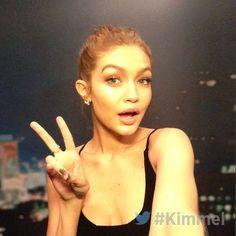 Gigi Hadid at Jimmy Kimmel | @nickibryson