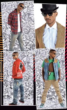 Billionare Boys club Pharell Williams collage