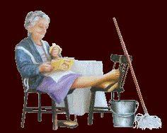 babcia odpoczywa