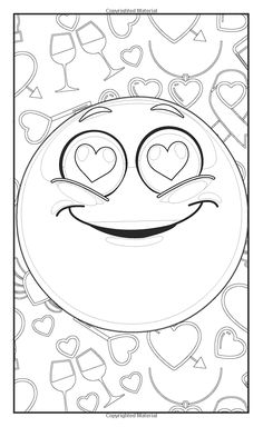 emoji love coloring book 30 cute fun pages for adults teens and kids great - Love Coloring Pages For Adults