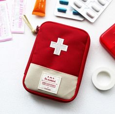First Aid Pouch - It would be perfect if it was just a bit larger to hold a few epi pens.