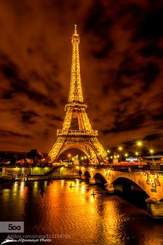 Eiffel Tower and Seine river, night time by AlpamayoPhoto on Torre Eiffel Paris, Paris Eiffel Tower, Eiffel Towers, Eiffel Tower Photography, Paris Photography, Paris Images, Paris Pictures, Paris Travel, France Travel