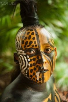 Quintana Roo, Yucatan, Mexico - Tribes - Tribus - World - Monde - Humans… Tribes Of The World, We Are The World, People Around The World, Cara Tribal, Tribal Art, Tribal Face Paints, Arte Fashion, Tribal People, Many Faces
