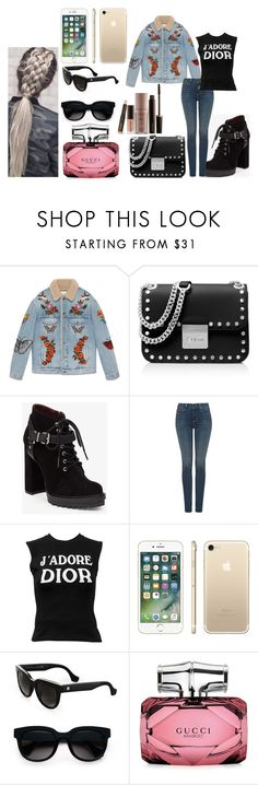 """""""Sin título #1228"""" by mariabelenernst97 ❤ liked on Polyvore featuring Gucci, MICHAEL Michael Kors, BCBGeneration, NYDJ, Christian Dior, Balenciaga and Laura Mercier"""