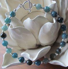 Blue Apatite Bracelet -Blue Beaded Bracelet - Healing Stones - Healing Bracelet - Blue Gemstone Bracelet - Blue Wedding Jewelry - Bridal Jewelry - Bridesmaid Gift - Bridesmaid Jewelry - Bridesmaid Bracelet by NikkiHillsDesign