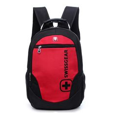 Red And Black 15.6 inch Outdoor Climbing Hiking Laptop Backpack Travel Bags Waterproof Notebook Mochila Hiking School Bags