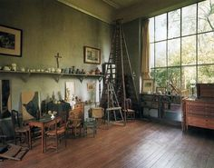 40 Inspiring Workspaces Of The Famously Creative: artist Paul Cézanne's studio.