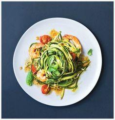 Spaghettis de courgette aux crevettes et à l'ail | Marabout Cuisine