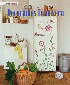 Smeg retro fridge with decal stickers by sososimps Smeg Fridge, Retro Fridge, Ugly Fridge, Vintage Refrigerator, Vintage Fridge, Interior Minimalista, Home Living, Living Room, Craft Activities